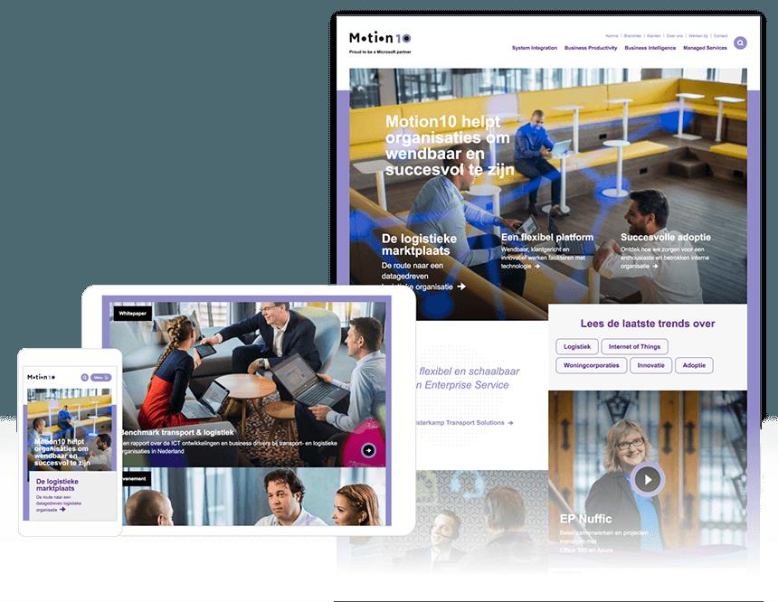 strategische aanpak - motion10 website
