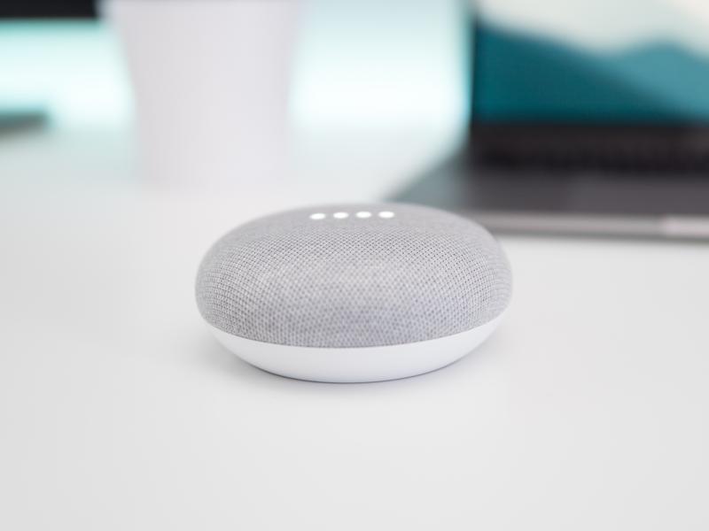 Voorbeeld van een voice assistant apparaat