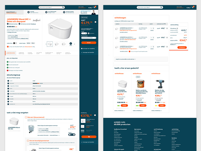 e-commerce platform - product detailpagina