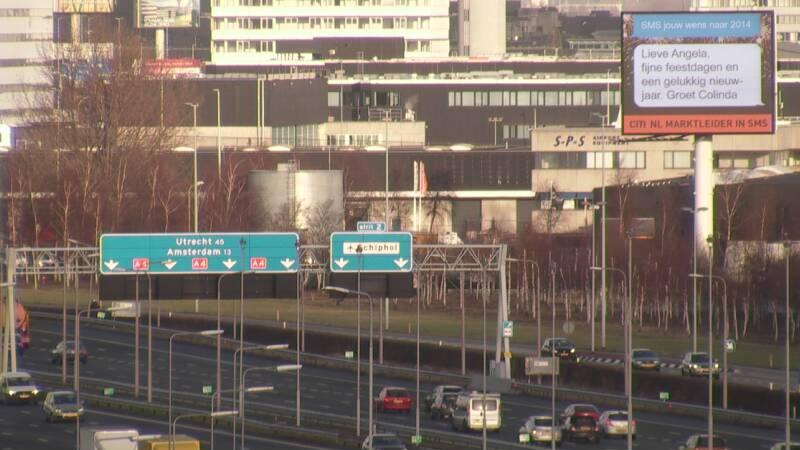 billboard A4 schiphol nieuwjaarskaart gelukswens